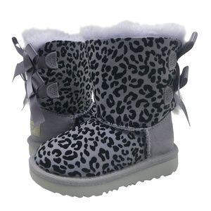 UGG Toddler EXOTIC BAILEY BOW II Boots Sheepskin 6
